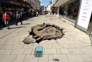 3D Streetart Freiheitsdrang in Wilhelmshaven 2017 by FreddArt
