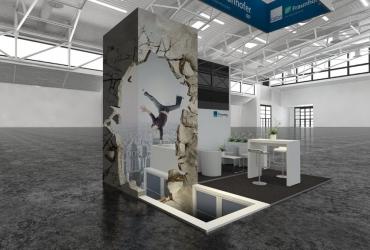 FreddArt 3D Messestand Design für Calcon Deutschland AG