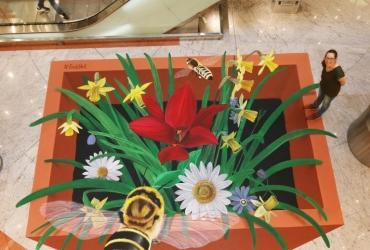 3D streetart Rettet die Bienen in Reutlingen