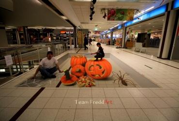 Vorbereitungen fuer Halloween