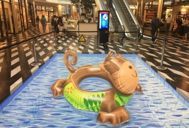 3D Streetart Pool in Münster 2017
