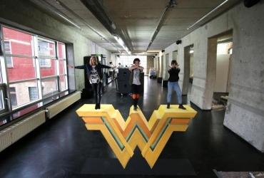 3D Streetart Workshop mit mit Lena Gerke und Melina sophie Wonderwoman by FreddArt