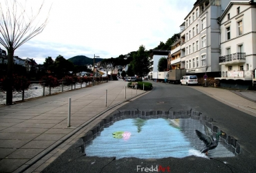 3D Streetart in Altena by FreddArt