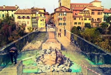 3D streetart auf der Teufelsbrücke in Cividale del Friuli Italien 2017 (3)