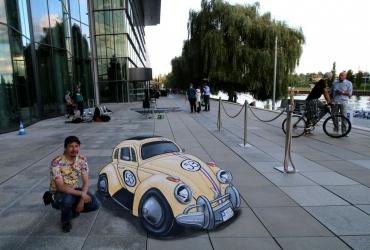 3D streetart in der Autostadt Wolfsburg 2017