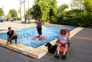 3D Straßenmalerei für RTL in Köln by freddart streetpainting 2012