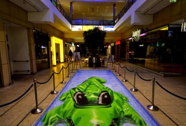 3D Straßenmalerei Krokodil in Hamburg