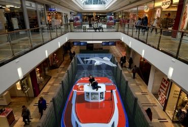 3D Straßenmalerei Schleuse in Hamburg
