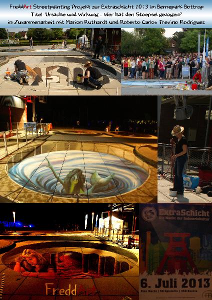 3D Strassenmalerei Konzept für die Extraschicht 2013