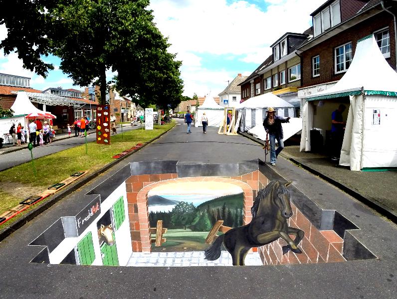 3D Strassenmalerei in Nordhorn Niedersachsen
