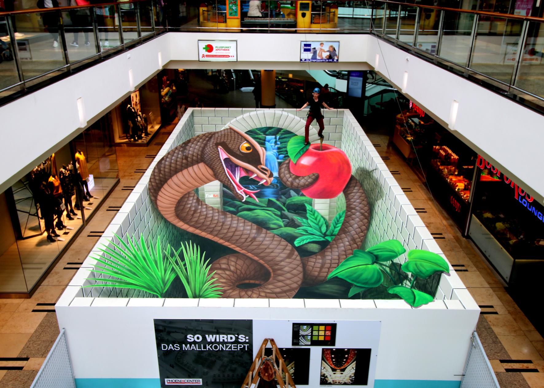 3D Straßenmalerei Garten Eden in Hamburg