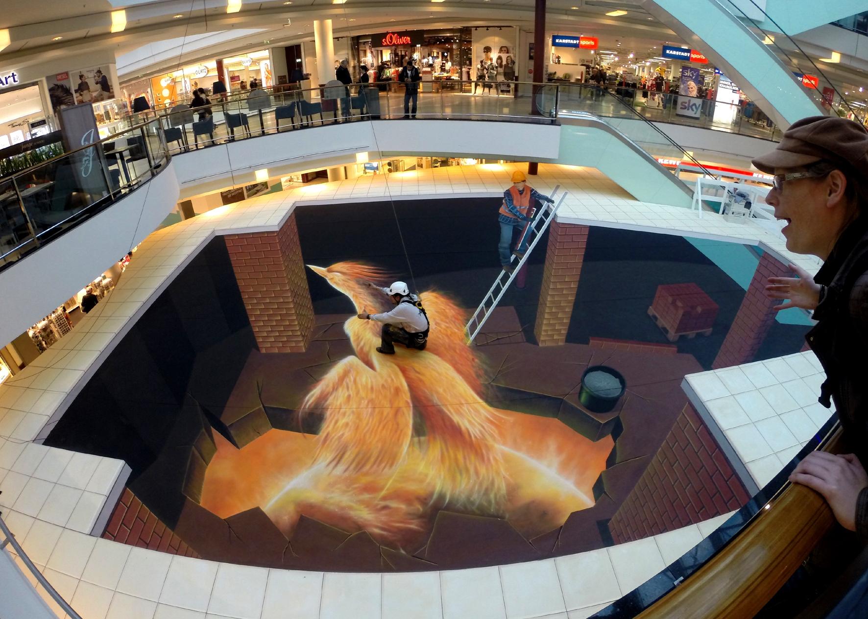 3D Straßenmalerei Phoenix in Hamburg