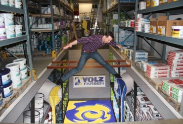 3D Strassenmalerei als bedruckter Vinylboden