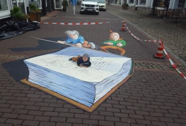 3D streetart Wilhelm Busch Tage Stadthagen04