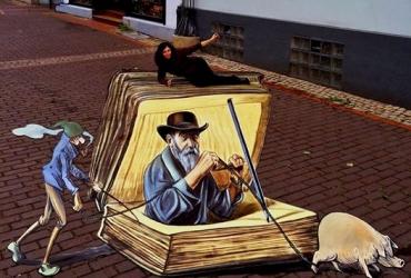 3D streetart Wilhelm Busch Tage Stadthagen02