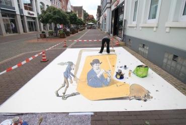 3D streetart Wilhelm Busch Tage Stadthagen12