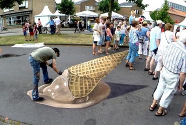 Roberto Carlos mit seiner 3D Streetart
