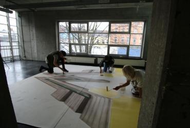 3D Streetart Workshop mit Lena Gerke und Melina Sophie für Wonderwoman 2017 by FredArt