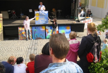 Straßenmalerei Kinderworkshop in Marktredwitz