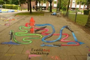 3D Strassenmalerei workshop in Bremen