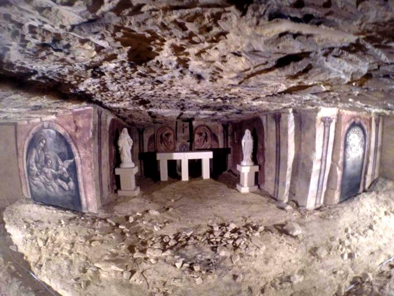 Wandmalerei schuilkapel Grottenkapelle
