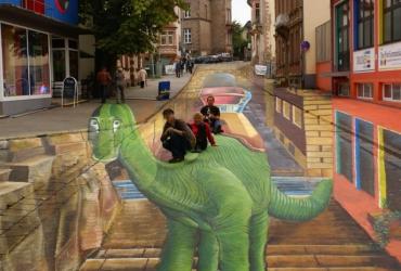XXL 3D Strassenmalerei in Sankt Wendel