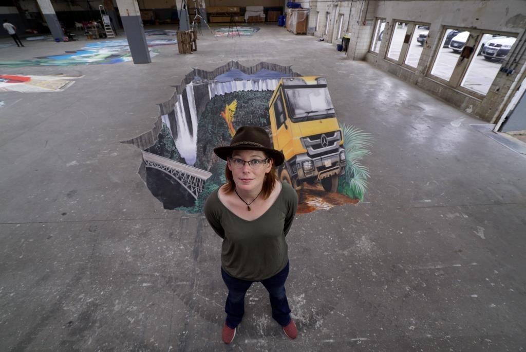 3D streetart artist Fredda Wouters