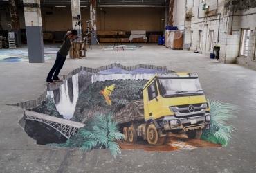 Truck in Afrika für Mercedes