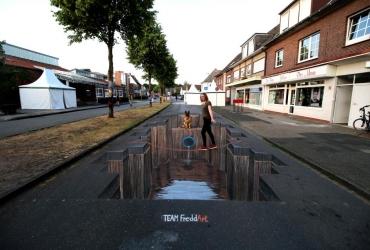 3D Streetart in Nordhorn 2017 by FreddArt