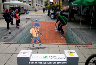 3D Streetart in Will Schweiz 2017 by FreddArt