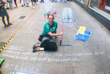 Protestaktion gerichtet an die Stadt Troisdorf 2018