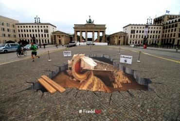 3d Fußboden Berlin ~ D straßenmalerei der extraklasse freddart streetpainting