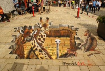 3D Straßenmalerei Afrika in Marktredwitz