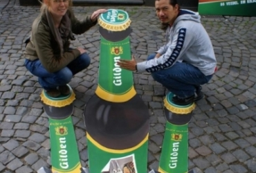 3D Strassenmalerei für Gilden Kölsch in Köln