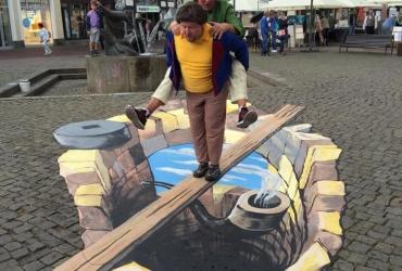 3D streetart Wilhelm Busch Tage Stadthagen01