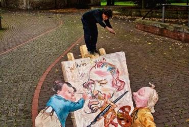3D streetart Wilhelm Busch Tage Stadthagen03