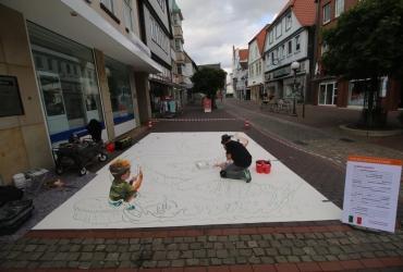 3D streetart Wilhelm Busch Tage Stadthagen09