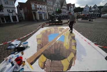 3D streetart Wilhelm Busch Tage Stadthagen11