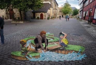 3D streetart Wilhelm Busch Tage Stadthagen14