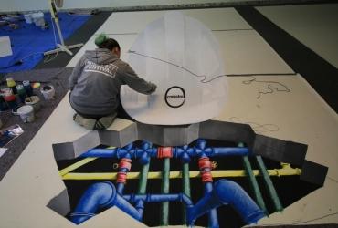 3D streetart Covestro by FreddArt04