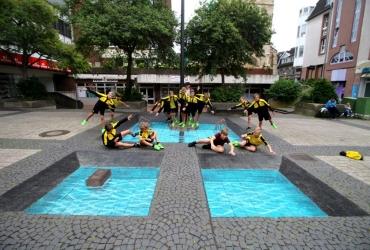 3D Streetart Workshop in Castrop Rauxel mit U12 Borrussia Dortmund 2017