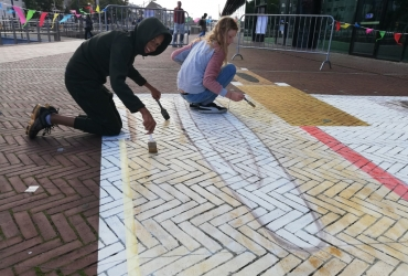 3D streetart Workshop in Delft