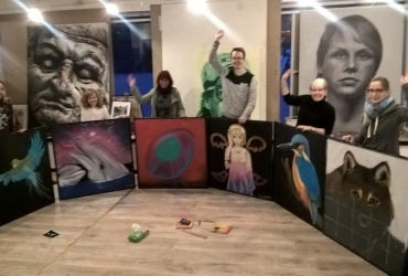 Straßenmalworkshop in Kevelaer 2018 by FreddArt (3)