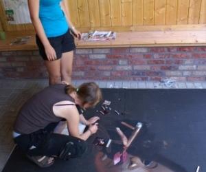 Strassenmalworkshop auf dem Zeltplatz Anna Fleuth in Kevelaer
