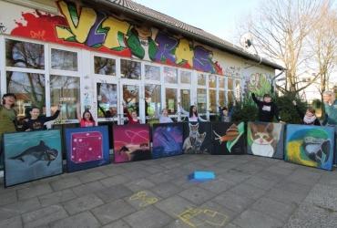 NRW Kulturrucksack Straßenmalworkshop in Castrop Rauxel 2017 by FreddArt (2)