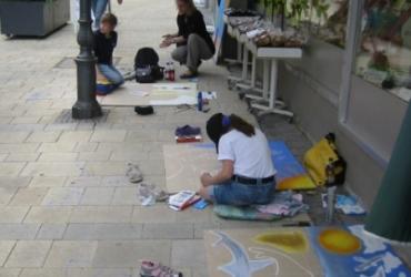Straßenmalerei Kinderworkshop in Marktredwitz