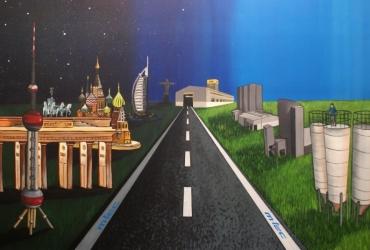 Messestandkonzept by FreddArt Wandmalerei