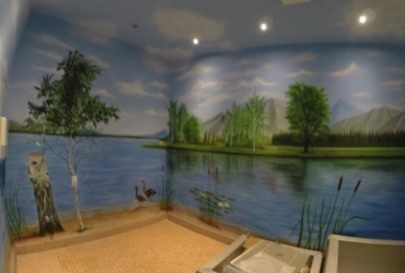Illusionsmalerei für die Firma Coppenrath in Niedersachsen